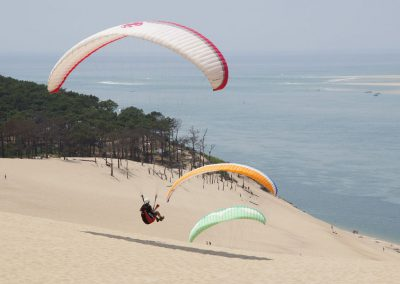 Parapente sur la dune